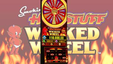 Smokin' Hot Stuff Wicked Wheel Slot Machine