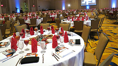 wide banquet shot